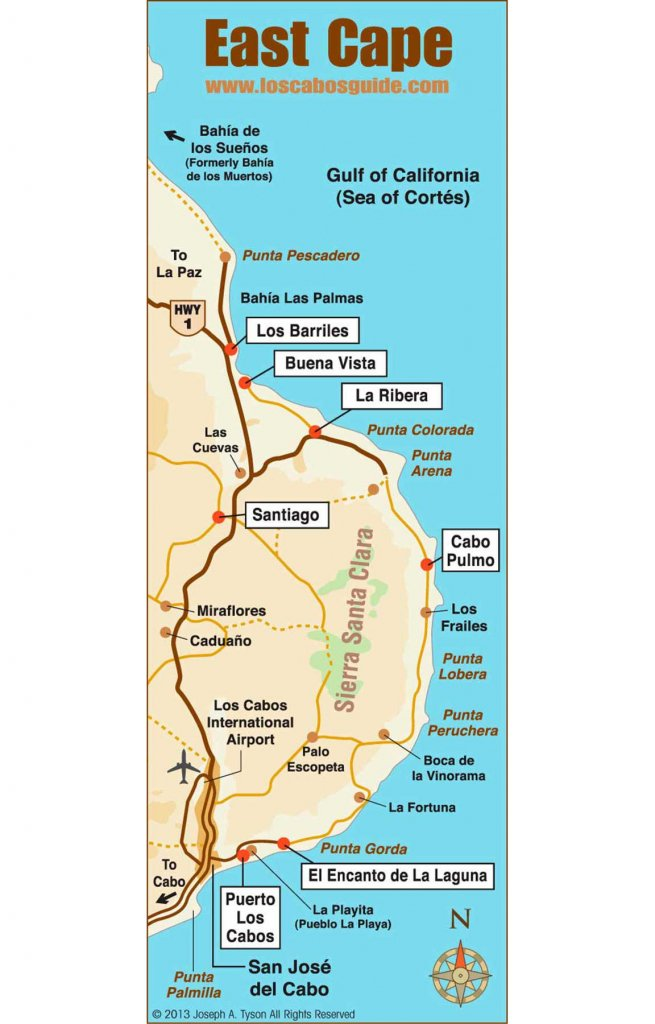 east cape map los cabos